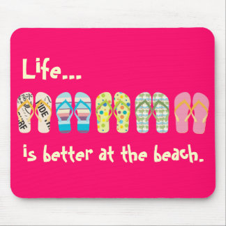Beach Flip Flops Mousepad