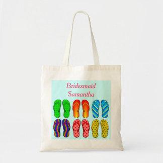 Beach Flip Flops Pattern Wedding Bridesmaid Custom Bags