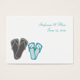 Beach Flip Flops Place Cards