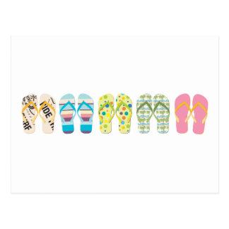 Beach Flip Flops Postcard