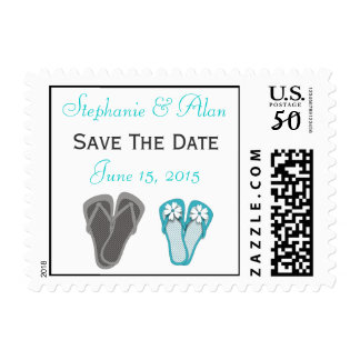 Beach Flip Flops Save The Date Postage