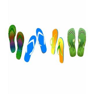 Beach Flip Flops zazzle_shirt