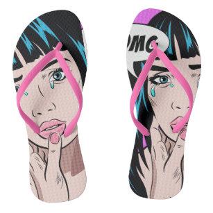 94ddad6d30175a Beach flip flops. With print in the Pop Art style Flip Flops