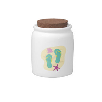 Beach Flips Candy Jar