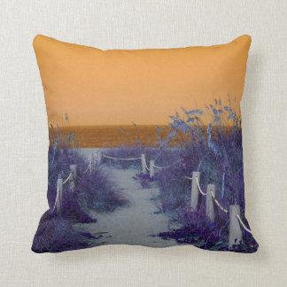 beach florida path purple orange throw pillows