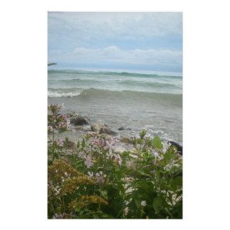 Beach Flowers 2 Custom Stationery