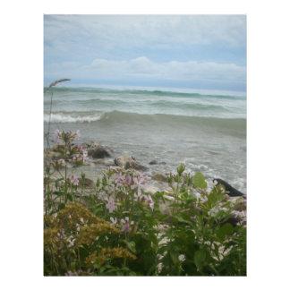 Beach Flowers 2 Letterhead Template