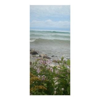 Beach Flowers 2 Rack Card Design