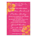 Beach Flowers - Azalea/Orange (5x7) 3.5x5 Paper Invitation Card