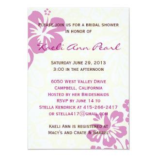 Beach Flowers Bridal Shower - Lilac Card