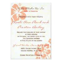Beach Flowers - Coral (5x7) Invitation