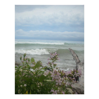 Beach Flowers Customized Letterhead