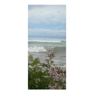 Beach Flowers Rack Card Template