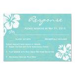 Beach Flowers RSVP 3.5x5 Paper Invitation Card