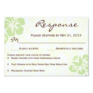 Beach Flowers RSVP - Green Card