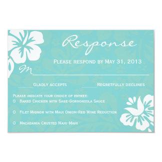 "Beach Flowers RSVP 3.5"" X 5"" Invitation Card"