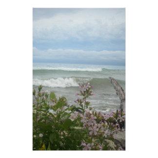 Beach Flowers Stationery Design