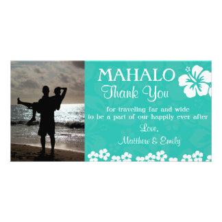 Beach Flowers Thank You Photo Card