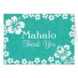 Beach Flowers Wedding Thank You Cards