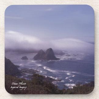 Beach Fog Cork Coaster