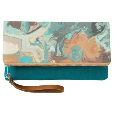 "Beach Themed ""Beach""  Fold-over Clutch by MAR from Thleudron"