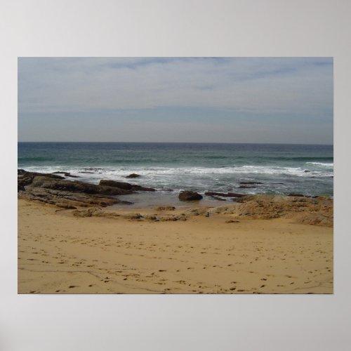 Beach footprints print