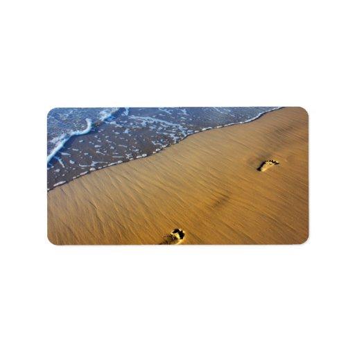 Beach Footsteps Address Label