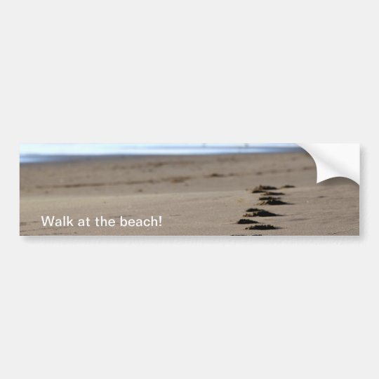 Beach Footsteps Bumper Sticker