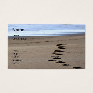 Beach Footsteps Business Card