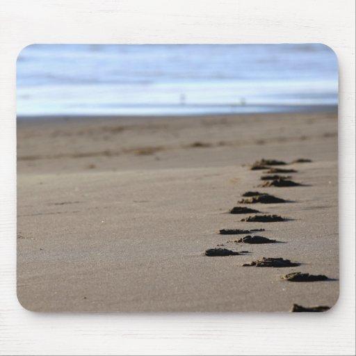 Beach Footsteps Mousepads