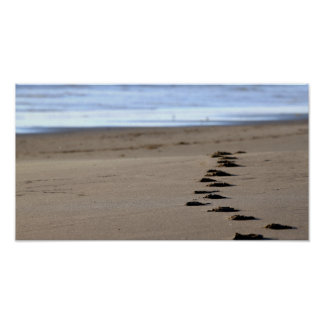 Beach Footsteps Poster