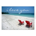 beach forever love greeting cards