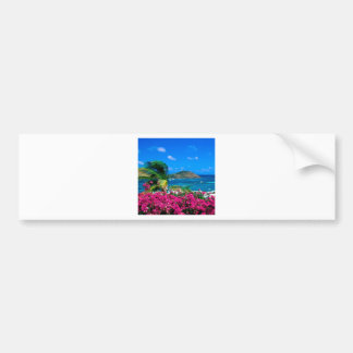 Beach French Cul De Sac Saint Martin Bumper Sticker