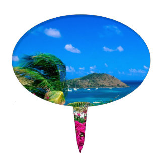 Beach French Cul De Sac Saint Martin Cake Topper