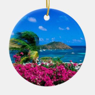 Beach French Cul De Sac Saint Martin Ceramic Ornament