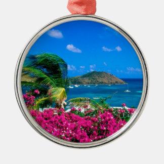 Beach French Cul De Sac Saint Martin Metal Ornament