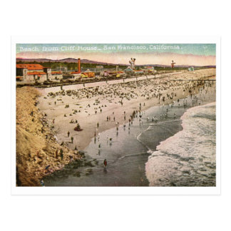 Beach from Cliff House, San Francisco Vintage Postcard