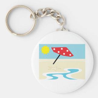 Beach Front Key Chain