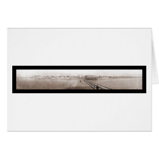 Beach Front Long Beach Photo 1908 Greeting Cards