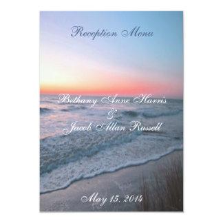 Beach Front View Menu 5x7 5x7 Paper Invitation Card