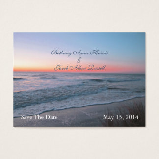 Beach Front View Save The Date Business Card