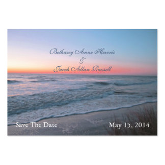 Beach Front View Save The Date Large Business Card