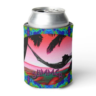 Beach Themed Beach Fun! Can Cooler