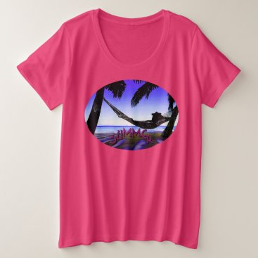 Beach Themed Beach Fun!  Women's  Plus T-Shirt