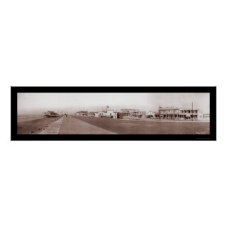 Beach Galveston, TX Photo 1910 Poster