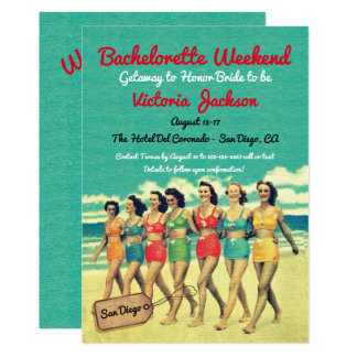 Beach Getaway Birthday or Bachelorette Destination Card