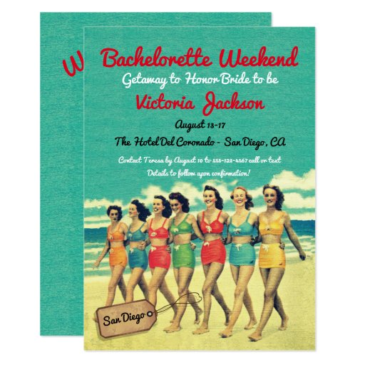 Beach Getaway Birthday or Bachelorette Destination Card