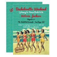 Beach Getaway Birthday or Bachelorette Destination Invitation