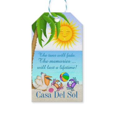 Professional Business Beach Gift Tag - SRF
