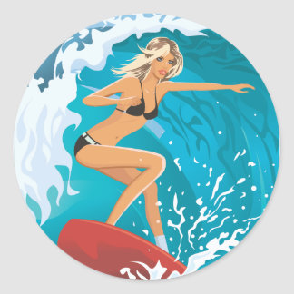 beach_girl_2.ai pegatina redonda